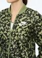 Nike Fermuarlı Sweatshirt Yeşil